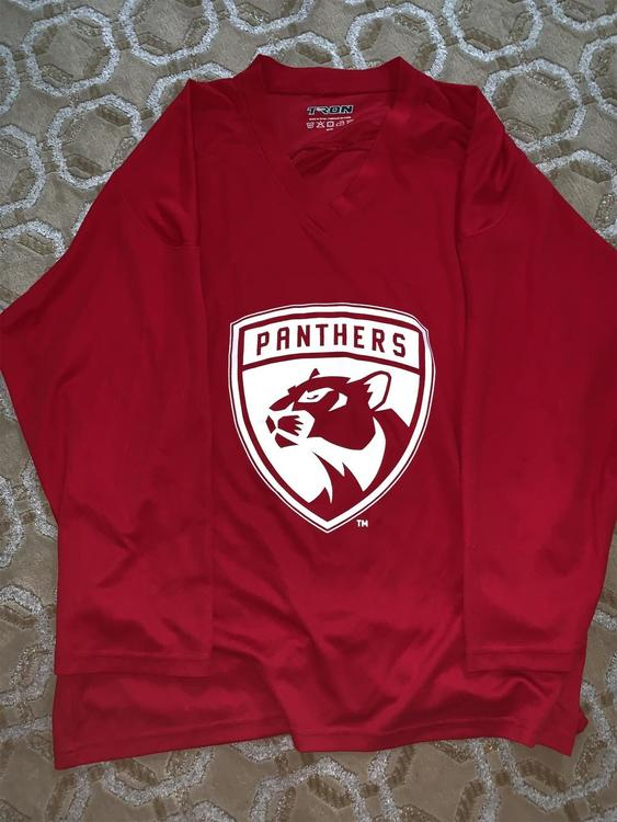 brand new 8678d e8810 Florida Panthers Red Practice Jersey
