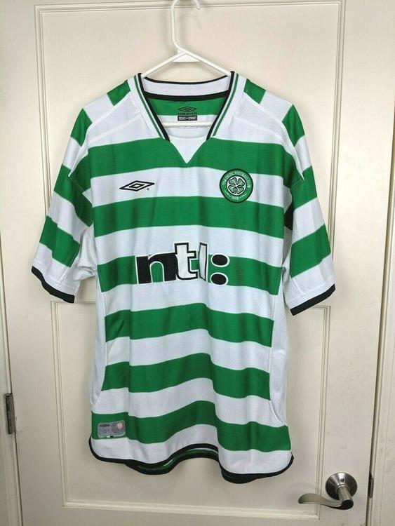 premium selection 8786e ad823 Celtic Soccer Football Club Ntl Umbro Jersey Mens Size XL