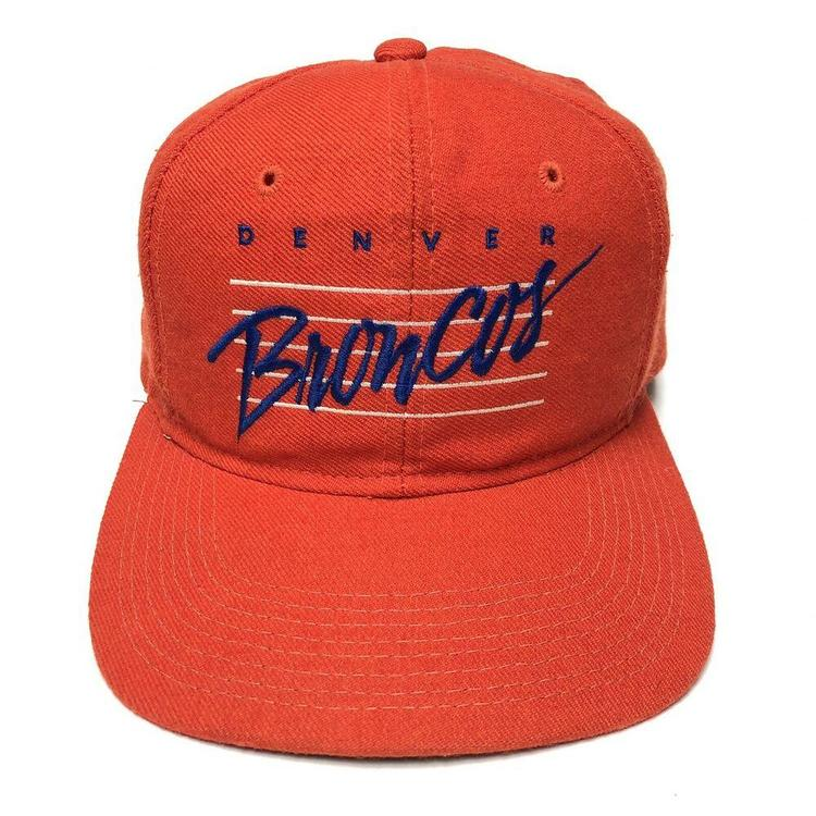 cfe8de8b VTG 90s Denver Broncos Snapback Hat Youngan Sports Specialties NFL Orange  OG Cap