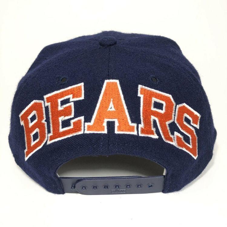 c6b199e3 VTG 90s Chicago Bears Snapback Hat American Needle Blockhead Wool Blue  Griswold