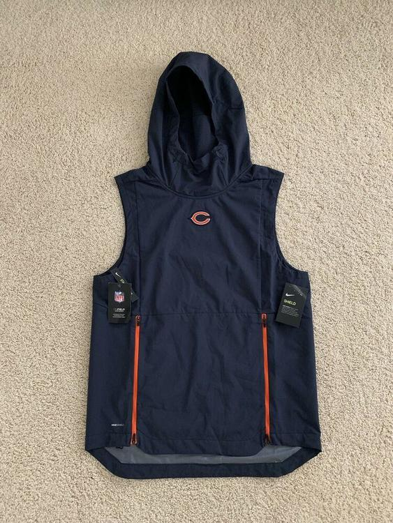 competitive price f8c68 97c71 Nike NFL Chicago Bears Shield Fly Rush Hoodie Vest Jacket Men's S  (906387-459)