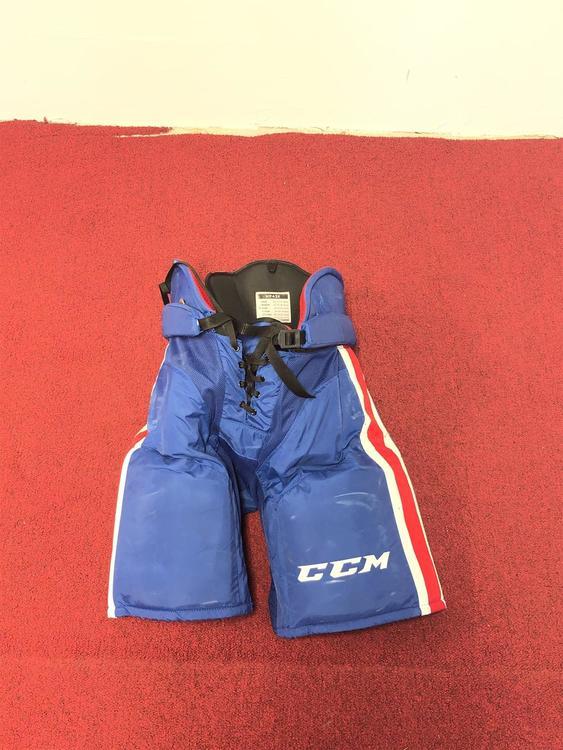 Rochester Americans CCM HP45X Hockey Pants Senior Large Pro Stock  Item#ROAM1007
