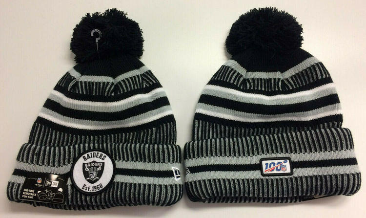 New Era 2019 Oakland Raiders Knit Hat Home On Field Sideline Beanie Stocking Cap Apparel Hats