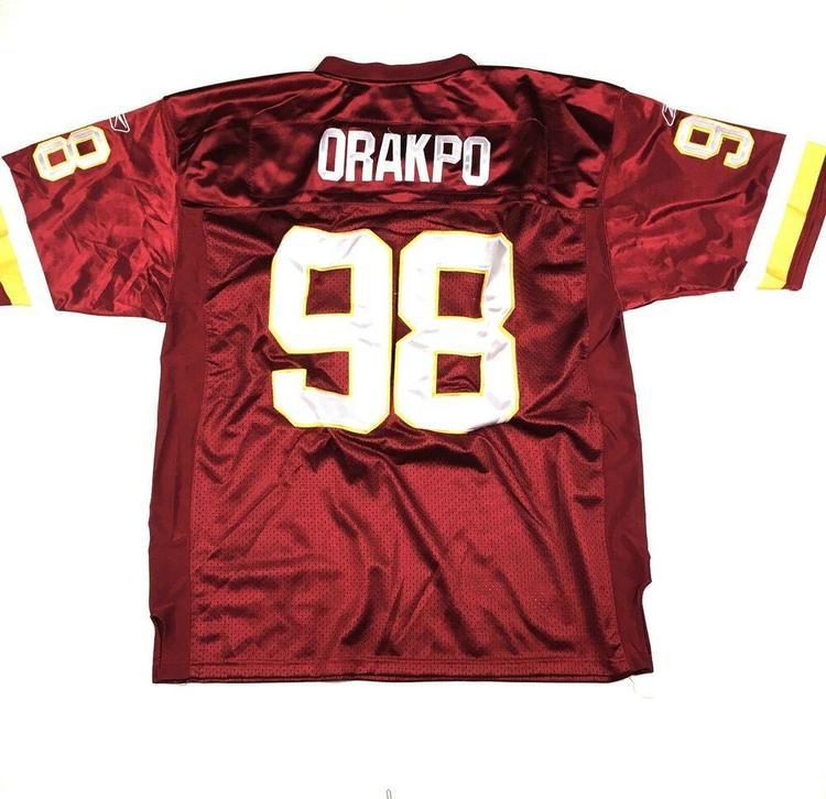 hot sale online b0aba dfaac Brain Orakpo Washington Redskins Jersey Reebok NFL Football Stitched Sz 52