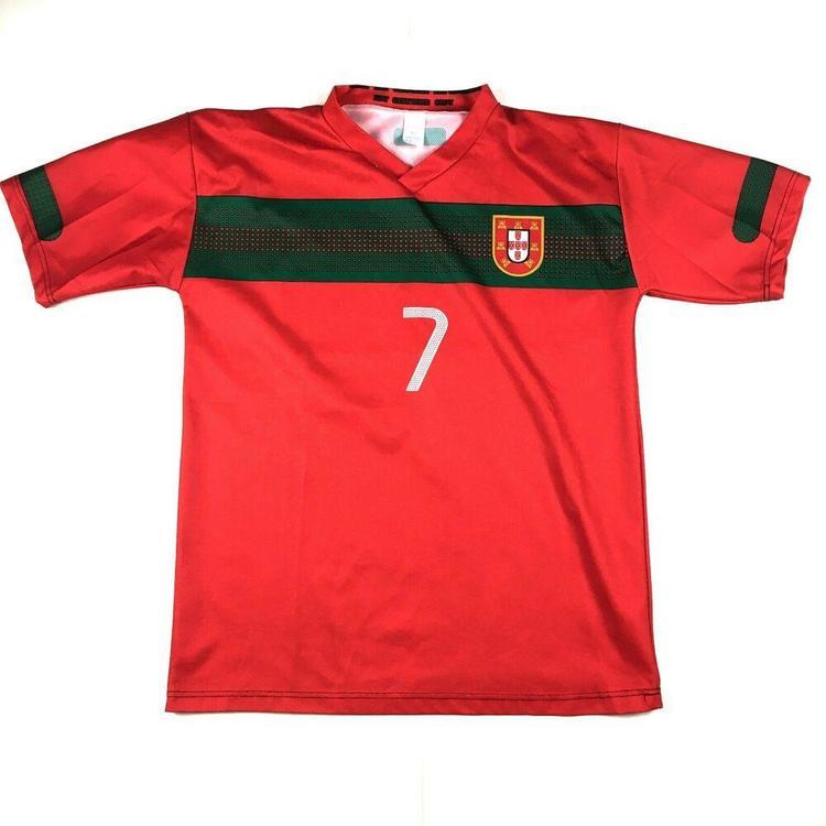 super popular 8cc10 119fc Christian Ronaldo Team Portugal Soccer Football Jersey #7 Red/Green Sz  Medium