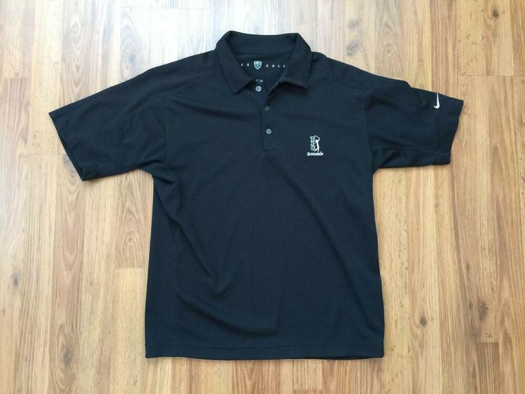 717325ae13 TPC Scottsdale Arizona SUPER AWESOME NIKE GOLF Sphere Dry Sz M Polo Golf  Shirt!