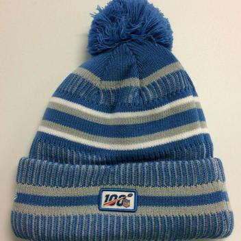 aa34a176 New Era 2019 Detroit Lions Home Knit Hat On Field Sideline Beanie ...