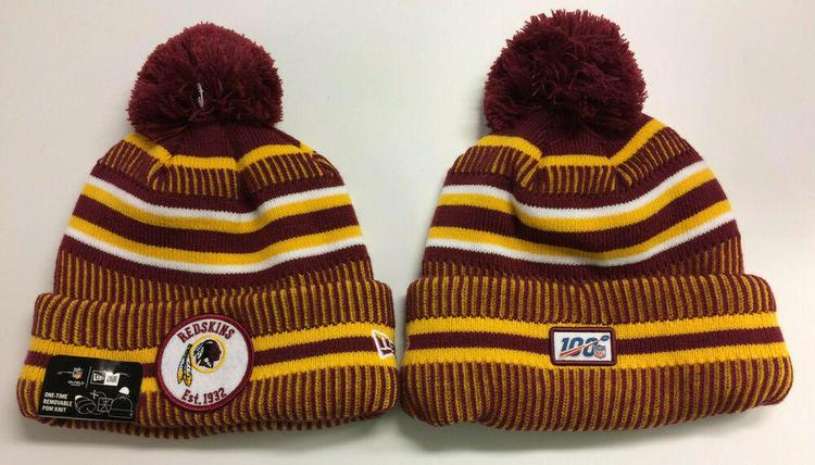 67e60d89 2019 Washington Redskins New Era Knit Hat On Field Sideline Beanie Stocking  Cap