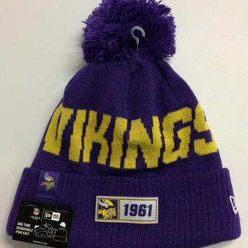 697dcdd9 New Era 2019 Minnesota Vikings Knit Hat On Field Sideline Beanie ...