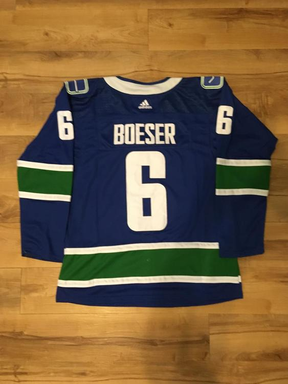 the best attitude 7db90 a3a67 Brock Boeser Vancouver Canucks Jersey Large