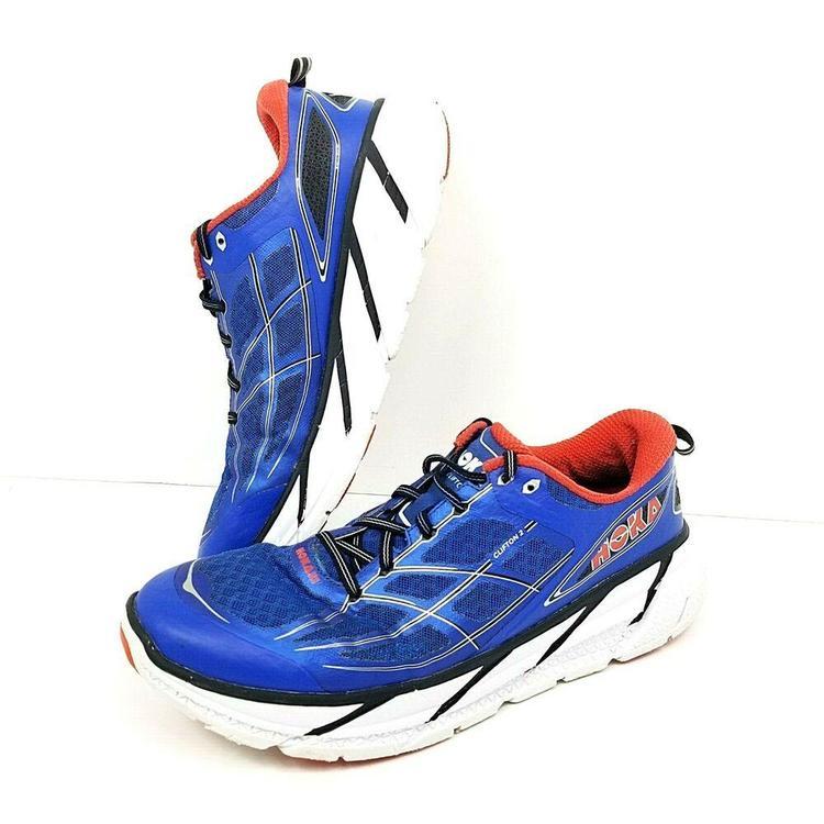 reputable site 61f56 b18de Hoka One One Clifton 2 Size 11 M EU 45 1/3 Mens Running Shoes Blue 1008328  Blue