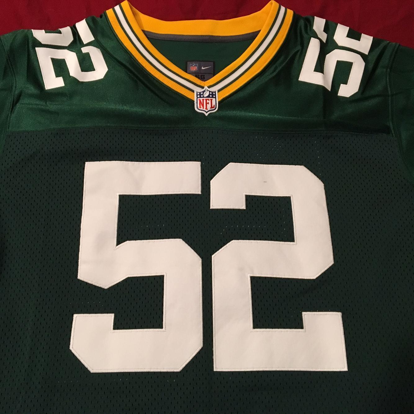 Green Bay Packers #52 Clay Matthews Size 56 Nike ON FIELD ...