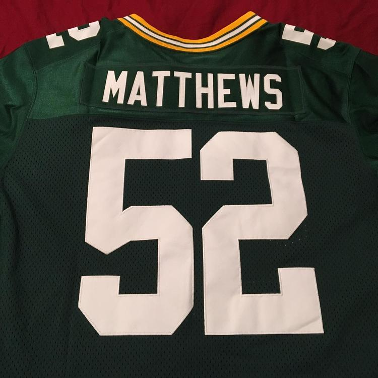 Green Bay Packers #52 Clay Matthews Size 56 Nike ON FIELD Authentic NFL Jersey | SidelineSwap