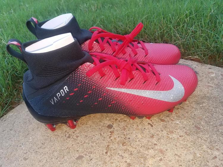 Nike Vapor Untouchable Pro 3 Black Red Football Cleats Mens 917165-002