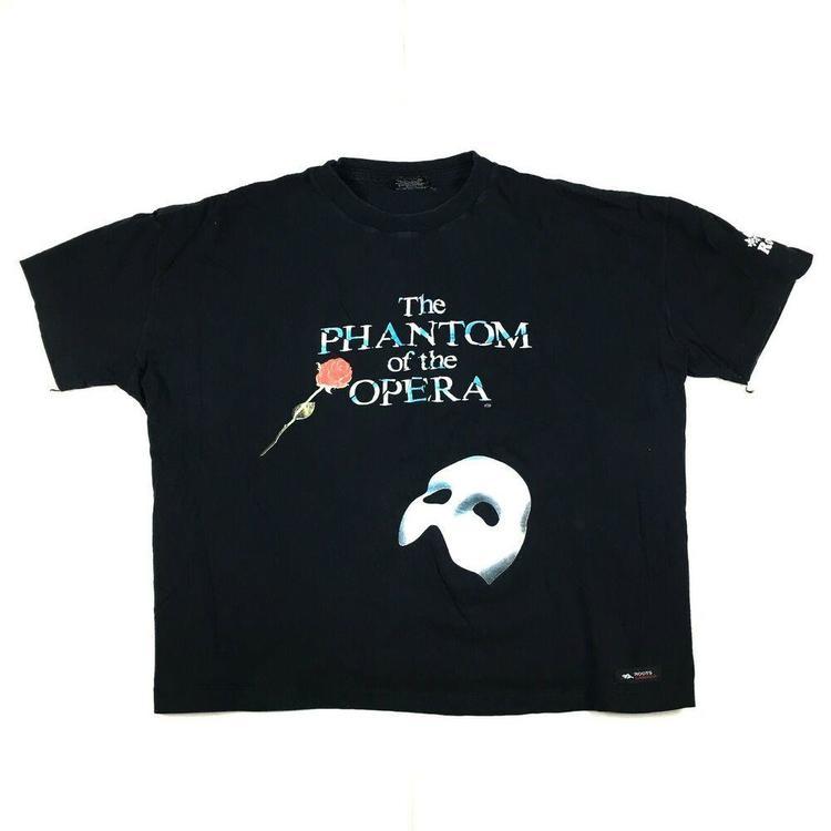 183109dccaa38 VTG 1986 Phantom of the Opera T-Shirt Roots Athletics Canada Boxy Fit Sz XL