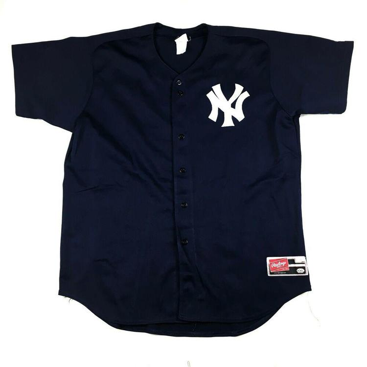 brand new ec2d3 783f8 VTG Wade Boggs New York Yankees Baseball Jersey #12 Rawlings Button Up Sz  XXL