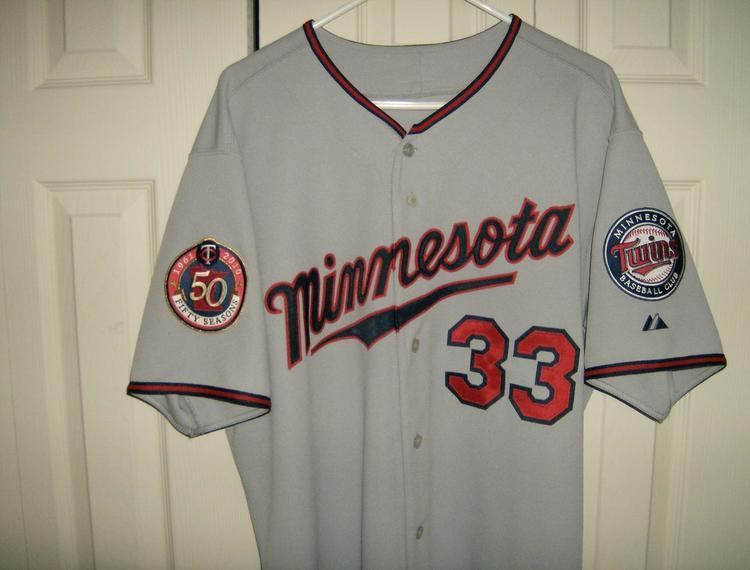 hot sale online 1c2da ba6f8 Authentic Minnesota Twins Justin Morneau Road Jersey size 48 (XL)