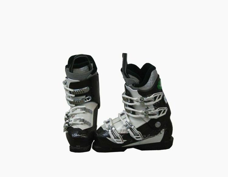 Used Ski Boots >> Salomon Divine 500 Womens Ski Boots Mondo 23 5 Womens 6 5 Brown White Used