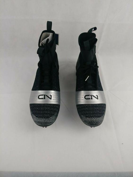 Cam Newton Under Armour High Football Cleats Black Silver 3000175-001 NEW W BOX