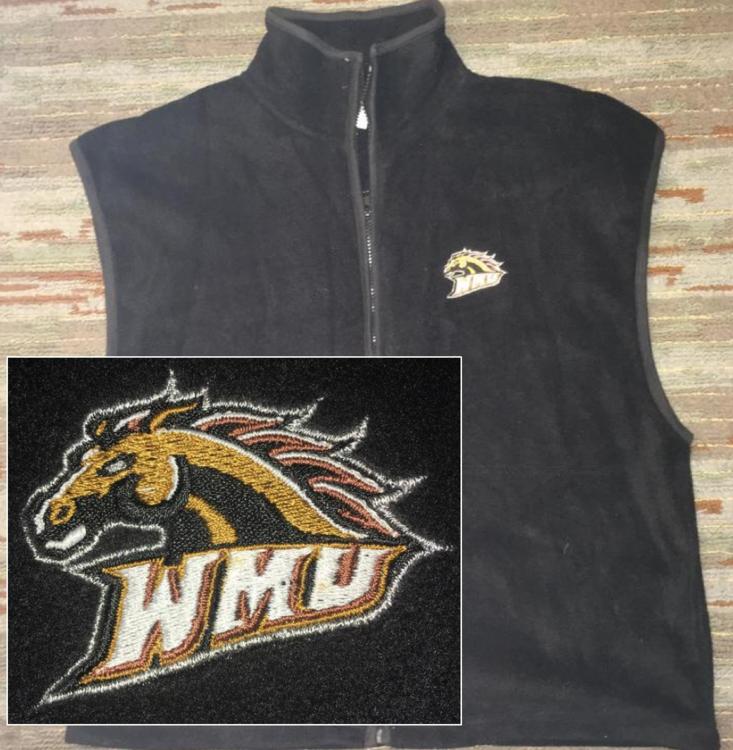online retailer a3186 68567 (Large) Western Michigan Broncos Fleece Vest