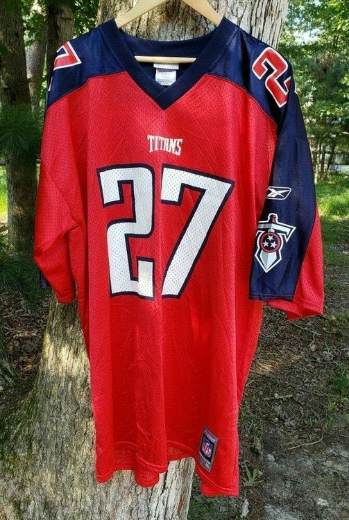 sports shoes 1b491 fc895 VTG Tennessee Titans Eddie George Jersey XL Alternate Red Reebok #27