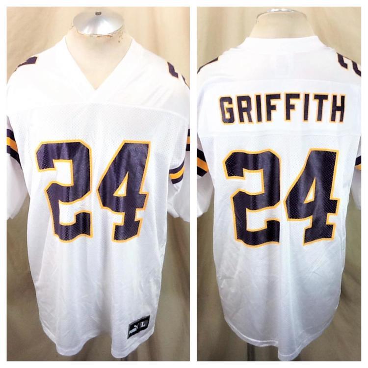buy popular 7e148 263c5 Vintage Puma Minnesota Vikings Football (Large) Robert Griffith #24 NFL  Jersey White