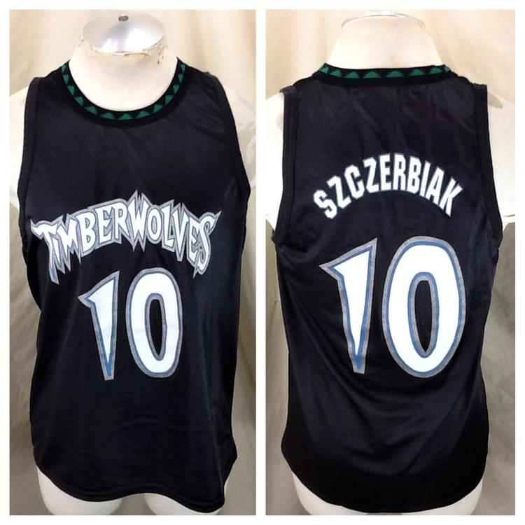 official photos 09a75 48363 Vintage 90's Minnesota Timberwolves (Med/Large) Wally Szczerbiak #10 Wolves  NBA Promo Jersey