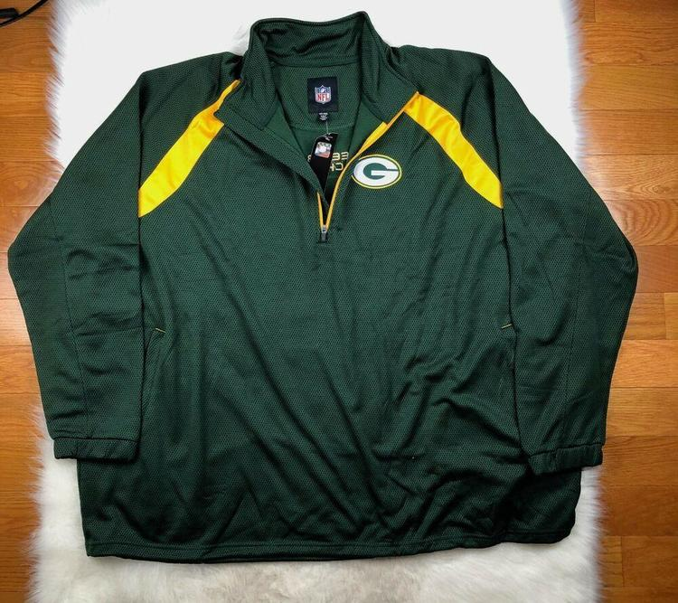 reputable site 6dcc9 2e2e4 NFL Green Bay Packers 1/4 Zip Embroidered Track Jacket, Big & Tall Men's 6XL