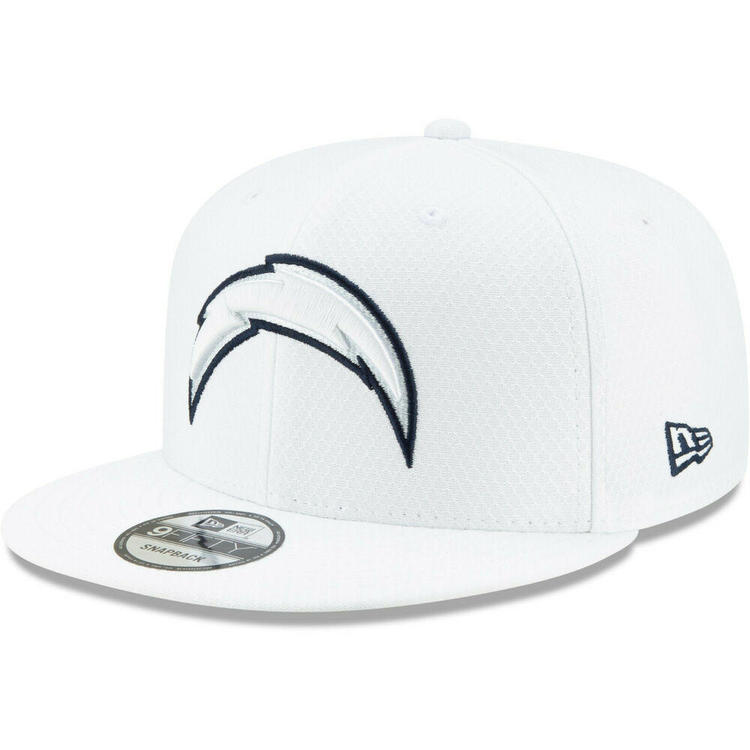 39b66d6c 2019 Los Angeles Chargers New Era 9FIFTY NFL Platinum Sideline Snapback Hat  Cap