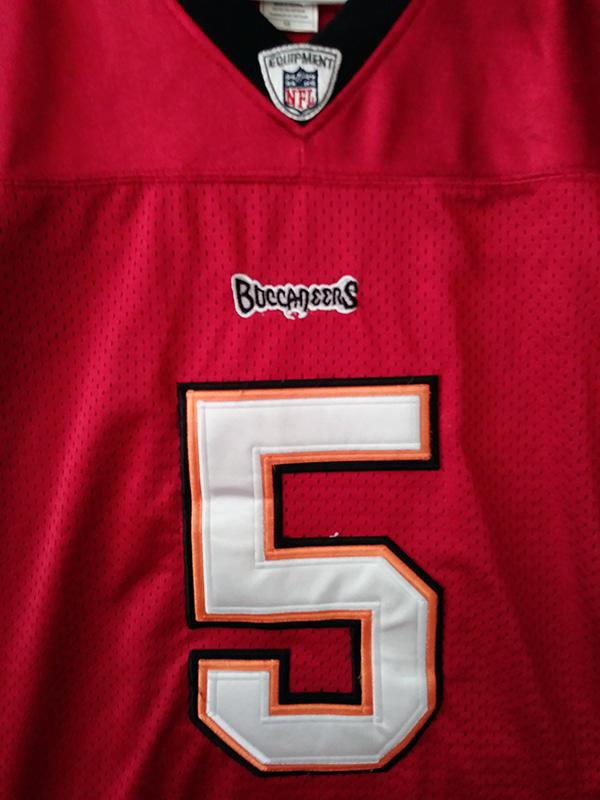 Reebok Onfield NFL Football TAMPA BAY BUCCANEERS Red #5 ...