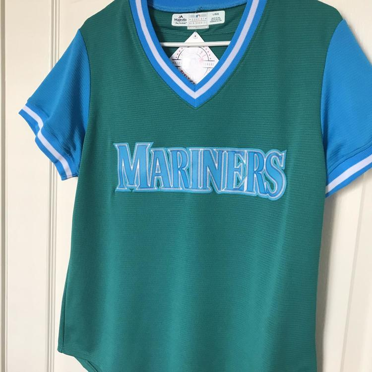 the latest 827e6 b4328 Seattle Mariners Players Weekend Jersey Women's Large