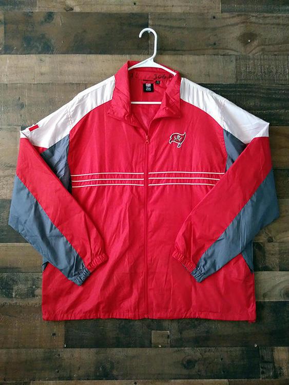 f8bbf0af Alumni Owned Reebok NFL Football TAMPA BAY BUCCANEERS #9 Allan Leavitt  Windbreaker Jacket