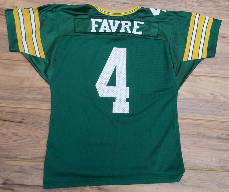 online store 0d18e 46289 1990's vintage Green Bay Packers Brett Favre Wilson jersey SIZE ADULT LARGE