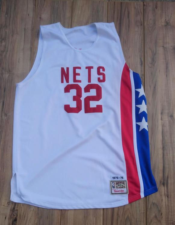 best service f4673 d6f4d New Jersey Nets Julius Erving (Dr. J) Mitchell & Ness Hardwood Classic  Throwback Jersey SIZE 3XL