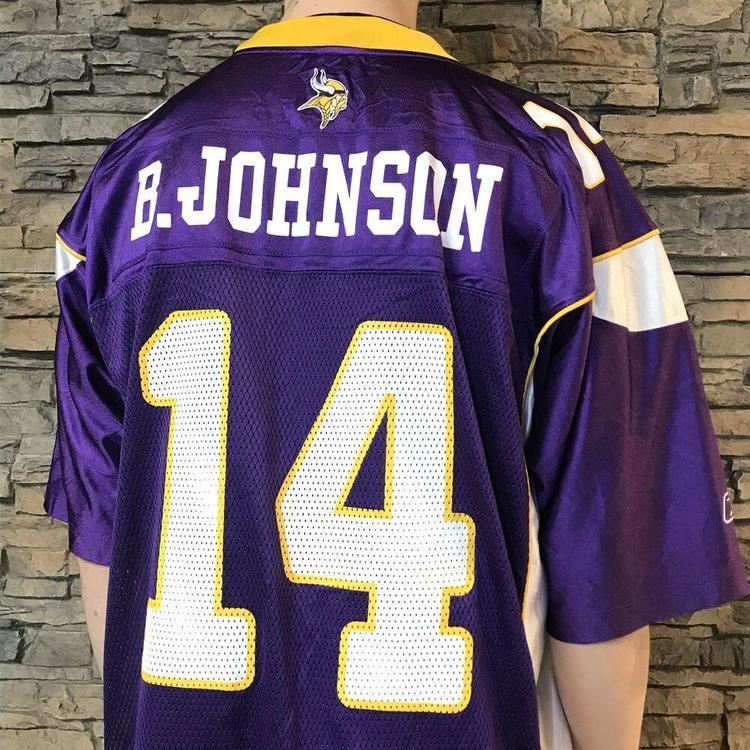 new styles 53c11 570a3 VINTAGE Brad Johnson Minnesota Vikings NFL Football Jersey Reebok Mens XL