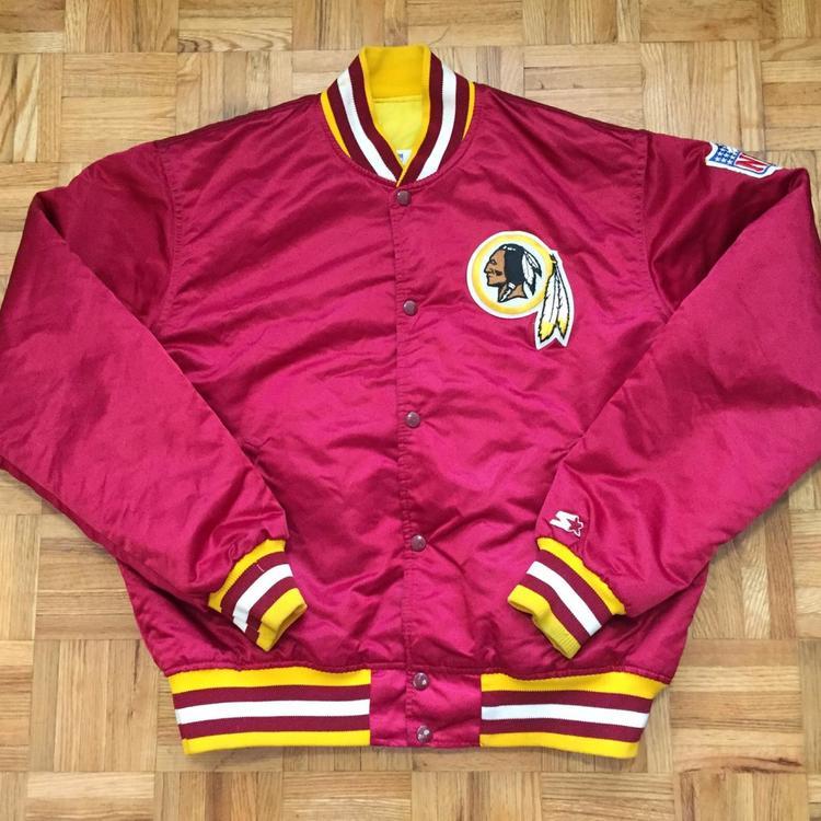 best website a2b41 26621 Washington Redskins Starter Satin Size Large Jacket Button Up