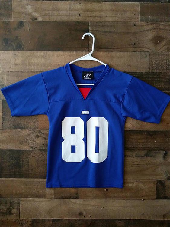 quality design 32007 32ad0 Vintage Logo 7 NFL Football NEW YORK GIANTS Red White Blue #80 Jeremy  Shockey Player Jersey