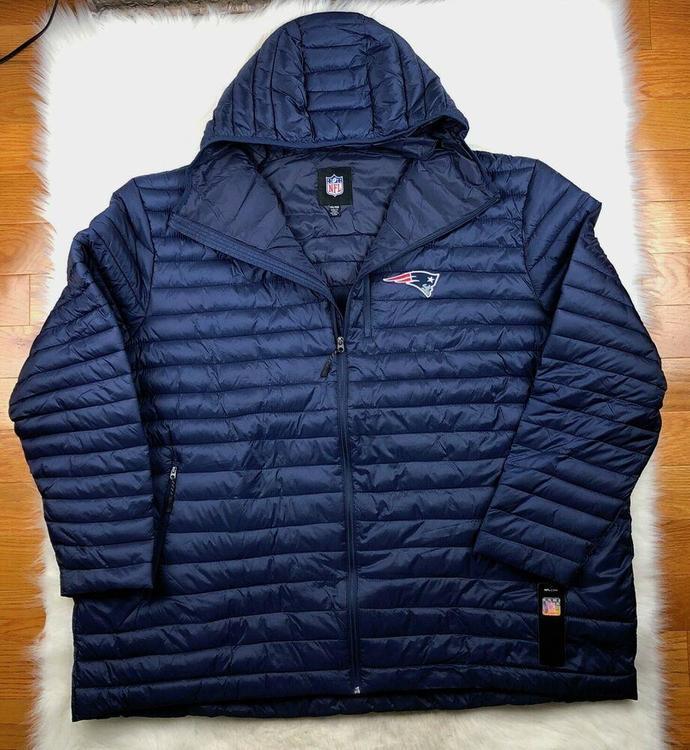 reputable site 4953f 04813 NFL New England Patriots Full Zip Hooded Puffer Jacket G-III Big & Tall Men  6XL