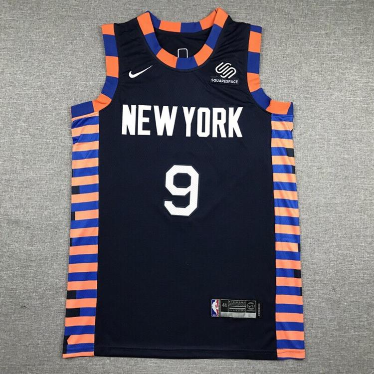 half off 599ae fe697 NWT Men's New York Knicks Barrett 9 Fully Stitched NBA Jersey