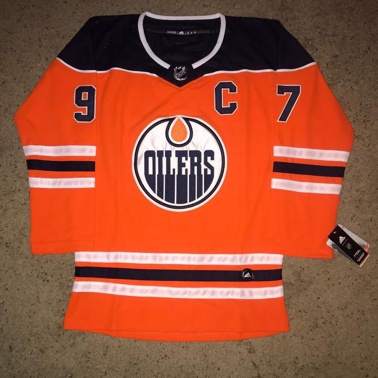 purchase cheap a85cf 961dc Connor McDavid Edmonton Oilers Adidas Jersey