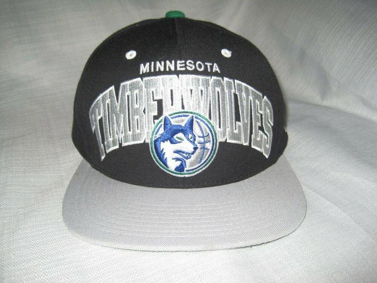 huge selection of 29281 c86fd Minnesota Timberwolves Mitchell & Ness Throwback Basketball Hat Cap Black  NEW