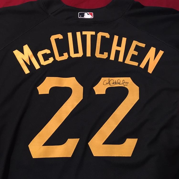 buy popular d0c15 c695d Andrew McCutchen Signed Autographed Pittsburgh Pirates Majestic MLB Batting  Practice Jersey