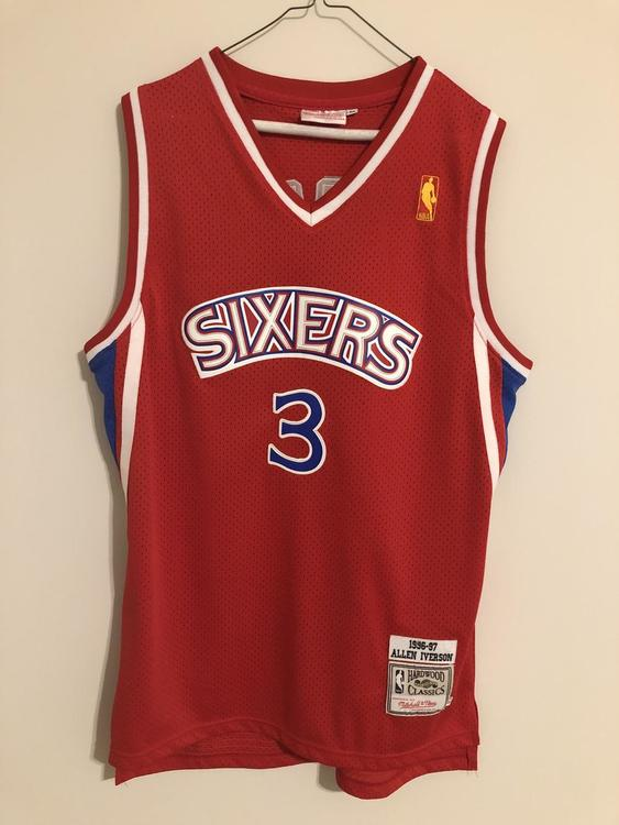 size 40 bad26 f51d5 New Mitchell & Ness Allen iverson throwback