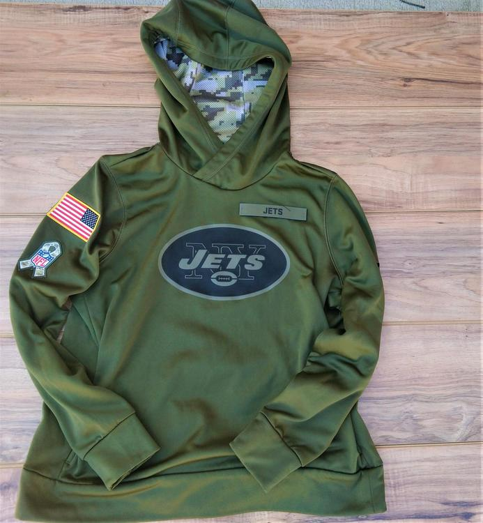 hot sale online 19836 24795 New York Jets Nike NFL Salute To Service Hoodie Size Youth XL Mint Condition