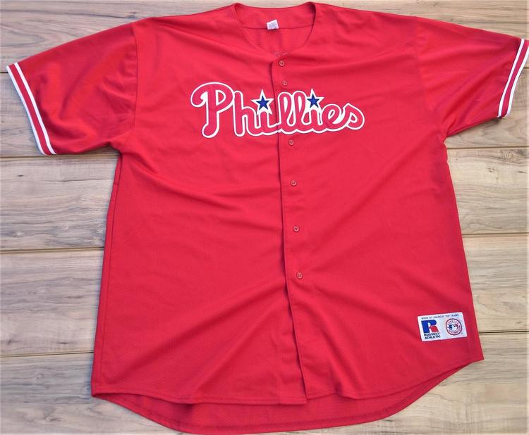 super popular 753bd 1bf56 Philadelphia Phillies Russell Athletic Billy Wagner Baseball Jersey Size  Adult 4XL MINT CONDITION