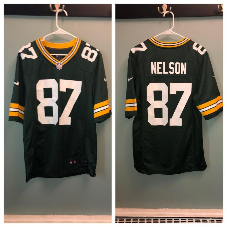 newest 4a1e7 f5ec5 Nike On Field Green Bay Packers (Small) #87 Nelson Jersey