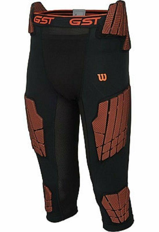 Wilson Adult Men/'s Medium Black GST Football Pad Compression Pants