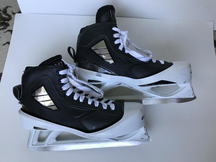 Custom Pro Stock True Goalie Skates with Bauer Cowlings - Size 12D