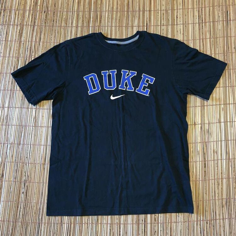 on sale 9f08f 6e94d Nike Duke Blue Devils NCAA Basketball Sports Swoosh T Shirt Mens L Athletic  Tee