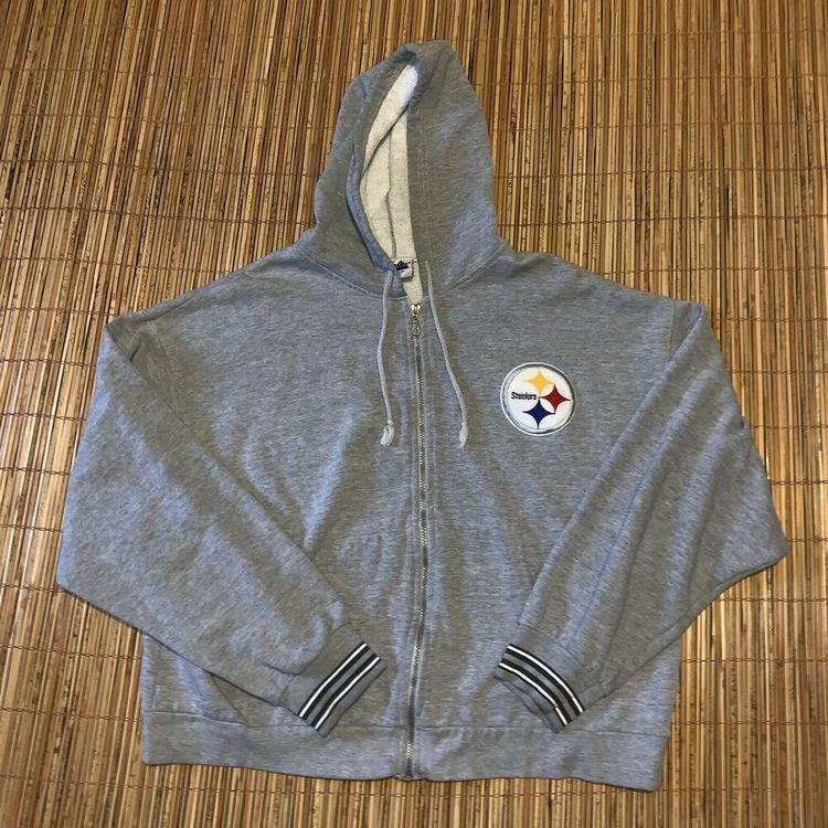 the latest 26836 0a84c Vintage Pittsburgh Steelers NFL Mens Hoodie Sweatshirt XL Black Zip Up  Football